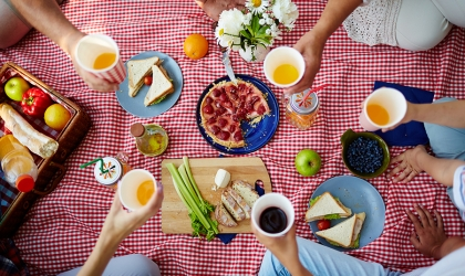 This picnic scene sets the stage for the May Festival